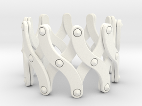 Expandable Bracelet SX in White Strong & Flexible Polished