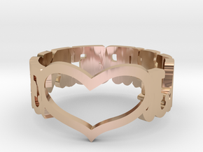 LAWRENCE HEART RING in 14k Rose Gold Plated