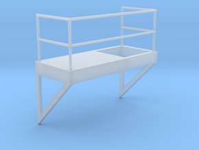 'HO Scale' - 8' Wide - Ladder Platform Right in Frosted Ultra Detail