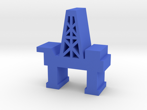 Game Piece, Oil Platform in Blue Strong & Flexible Polished