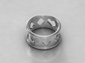 Card Suit Ring in Polished Silver