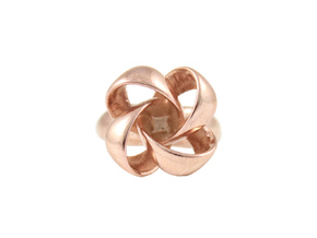 Knot Ring Size 7 in 14k Rose Gold Plated