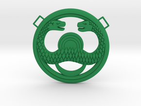 Conan Snake Amulet in Green Strong & Flexible Polished