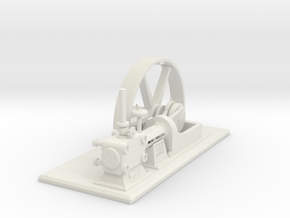Corliss Engine with Flywheel in White Strong & Flexible