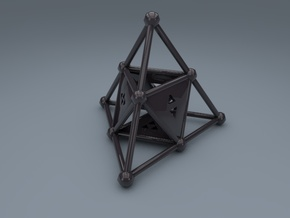 4-Sided Dice - Standard (2.5cm) in Black Strong & Flexible