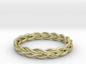 Ring of braided rope - size 8 in 18k Gold Plated