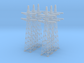 Power Line Towers Z Scale in Frosted Ultra Detail