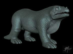 Iguanodon retro 1/72 in White Strong & Flexible
