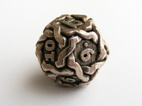 'Twined' Dice D12 Gaming Die (20mm) in Stainless Steel