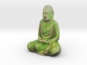 Textured Buddha: jungle leaves in Full Color Sandstone