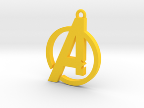 Avengers Pendant in Yellow Strong & Flexible Polished