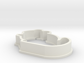 Small Chinchilla Cookie Cutter in White Strong & Flexible