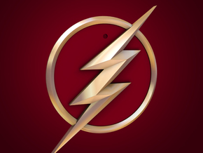 The Flash - Pendant (TV Flash) in White Strong & Flexible