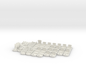 Cargo, Cruise, Giant, Milit. & Sail. ships (24 pcs in White Strong & Flexible