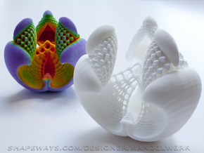 Libidinis Hexagonis Albidus (Touchable Fractal) in White Strong & Flexible Polished