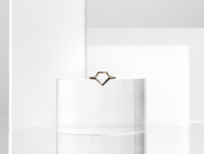 Rock Diamond Illusion Ring in Polished Bronze