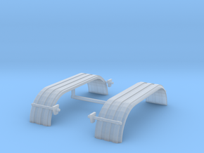 1/64th UFS Tandem Fenders ribbed curved in Frosted Ultra Detail
