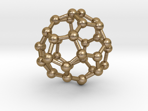 0097 Fullerene c38-16 c3v in Polished Gold Steel
