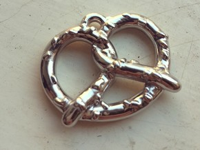 "Pretzel Pendant 1.5"" in Rhodium Plated"