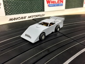 HO-Scale Dirt Late Model Body in White Strong & Flexible