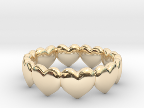Ring Hearts in 14k Gold Plated