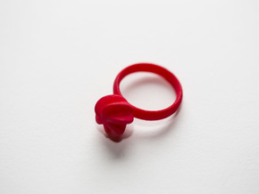 Flora Ring, Size US6 in Red Strong & Flexible Polished