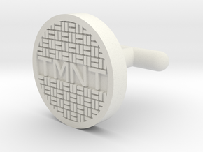 TMNT Sewer Cover Cuff Link in White Strong & Flexible