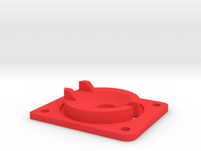 Reinforced Eject Saucer in Red Strong & Flexible Polished