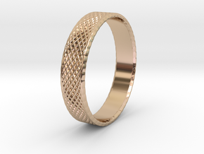 0102 Lissajous Figure Ring (Size10, 19.8mm) #003 in 14k Rose Gold Plated