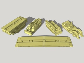 3mm Leopard 2 Pioneer Vehicles (16pcs) in White Acrylic