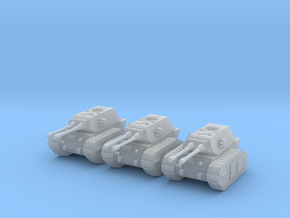 6mm Dieselpunk E-80 tanks in Frosted Ultra Detail