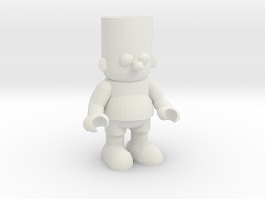 Bart Simpson Toy - BartBootlegs.com in White Strong & Flexible