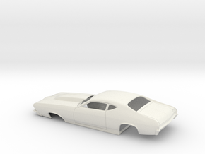 1/25 69 Chevelle Pro Mod One Piece Body in White Strong & Flexible