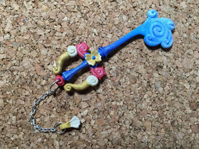 KH Keyblade Pendant Mysterious Abyss  in White Strong & Flexible