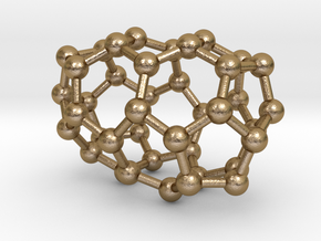 0109 Fullerene C40-3 d2 in Polished Gold Steel