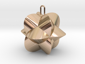Pendant-c-4-3-30-90 in 14k Rose Gold Plated