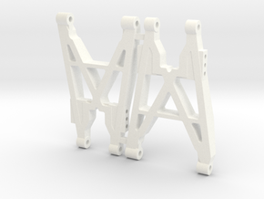 NIX91-Race Rear Arms SLS in White Strong & Flexible Polished