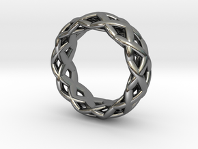 Gridring in Polished Silver