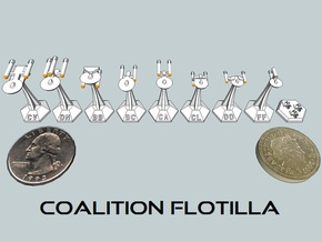 MicroFleet TOS Coalition Sampler (9 Pcs) in White Strong & Flexible