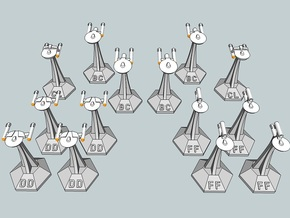 MicroFleet TOS Coalition Fast Attack Group (14pcs) in White Strong & Flexible