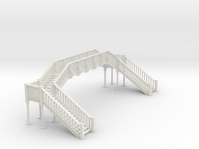 Lattice Footbridge OO Scale in White Strong & Flexible