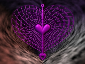 Heart Swap Spinner Spiral Ribs - 15cm in Purple Strong & Flexible Polished