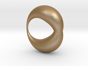 0053 Antisymmetric Torus (p=1.5) #002 in Matte Gold Steel