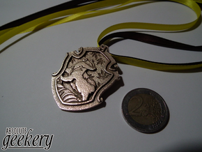 Hufflepuff House Crest - Pendant SMALL in Stainless Steel