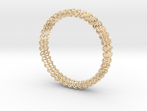 Tetradecahedron Bangle in 14k Gold Plated