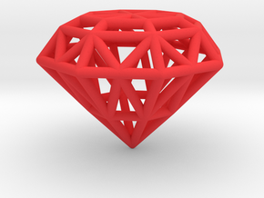 Rounded Diamond Lattice in Red Strong & Flexible Polished
