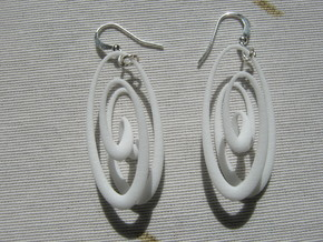 Conchoid 1 4 Earrings in White Strong & Flexible