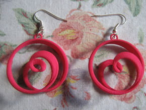 Coil 2 3 4 Earrings in Pink Strong & Flexible Polished