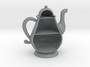 Micro 1:144 Scale Teapot House in Polished Metallic Plastic