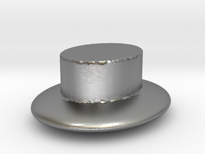 plain hat  in Raw Silver